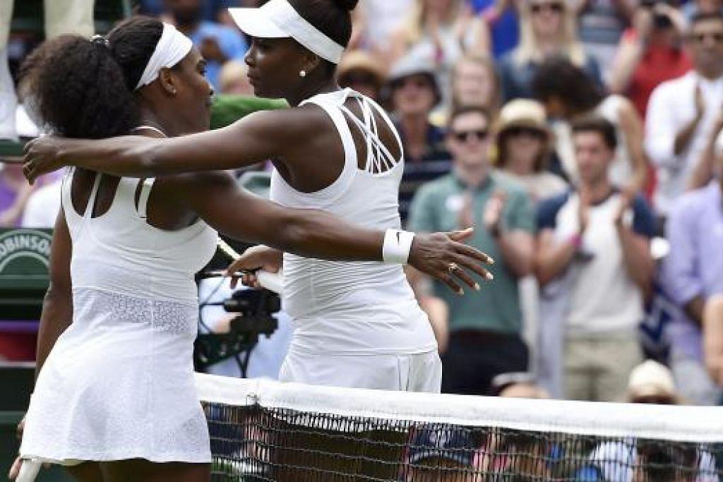 Serena (kiri) dan Venus Williams. Gambar fail REUTERS