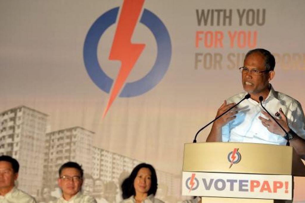 Encik Masagos berkata pemerintah PAP bersedia mendengar suara rakyat muda Singapura. Gambar M.O.SALLEH