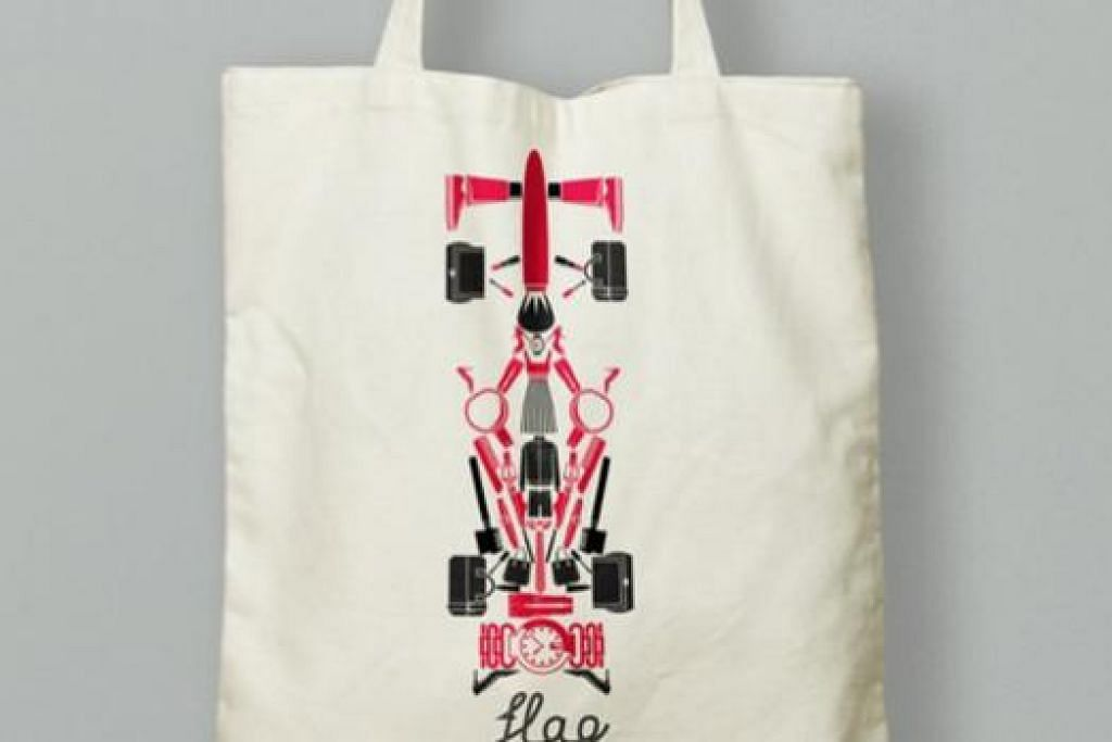 BEG ISTIMEWA: Pengunjung di Paragon berpeluang membawa pulang beg tote keluaran terhad 'Rev-Up@Orchard' ini berbelanja sekurang-kurangnya $150. Pemegang tiket F1 pula hanya perlu berbelanja $120.