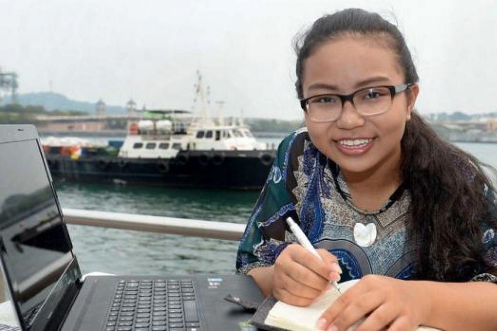 USIA BUKAN PENGHALANG: Walaupun menjadi peserta termuda dan tidak mempunyai pengalaman, Nur Amalia tetap bersemangat mahu memberi sumbangan kepada industri maritim. - Foto TAUFIK A. KADER