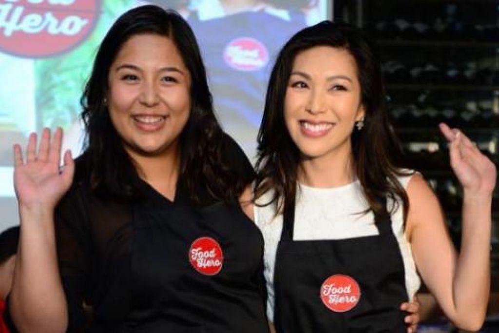 PEMENANG FOOD HERO: Cik Ili Sulaiman dari Malaysia (kiri) dan Cik Debbie Wong dari Hongkong memenangi pertandingan realiti 'Food Hero 2015' dan akan mengacarakan rancangan sendiri di saluran kabel Asian Food Channel (AFC) dan Food Network Asia. - Foto SCRIPPS NETWORKS INTERACTIVE