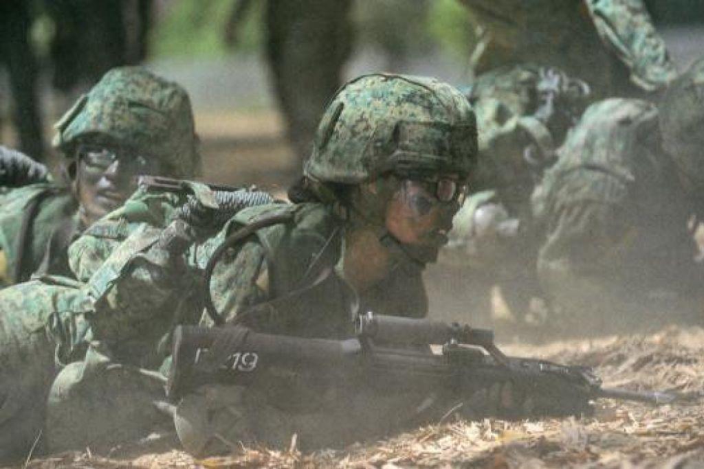 Pendedahan askar SAF kepada jerebu akan dikurangkan apabila mutu udara mencapai paras tidak sihat. Gambar PIONEERNS