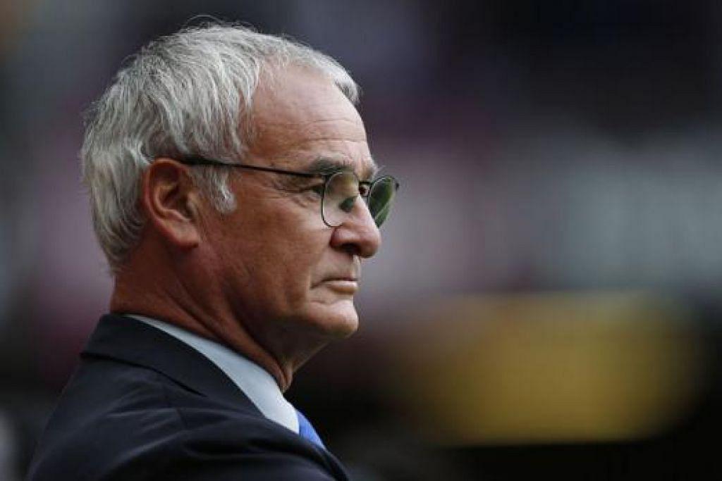 SENTUHAN HEBAT: Pengurus baru Leicester, Claudio Ranieri, tidak asing dengan bola sepak di England kerana pernah bertugas dengan Chelsea tidak lama dulu. - Foto AFP