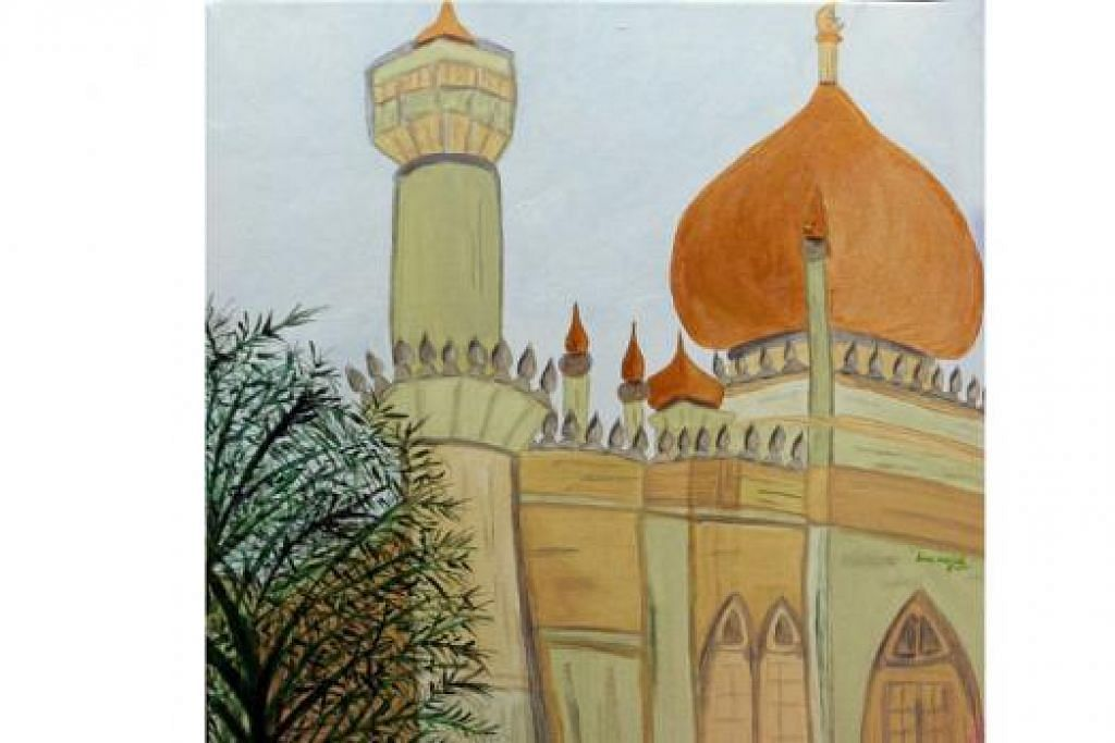 LAHIRKAN PERASAAN: Antara lukisan Cik Noor Naserimah yang dihasilkan sebagai suatu terapi untuk menenangkan dirinya.