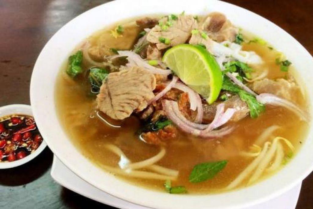 MI ALA VIETNAM (ATAS): Noor Jannah's Kitchen turut menjual mi daging popular asal Vietnam. - Foto-foto KULINARY AFFAIRS