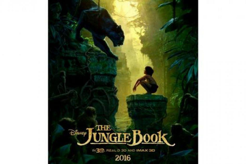 FILEM BUDAK LELAKI KECIL DIBESARKAN SERIGALA: Mowgli bakal menghiasi pawagam dalam filem 'The Jungle Book' yang akan dikeluarkan pertengahan tahun depan. - Foto DISNEY STUDIOS