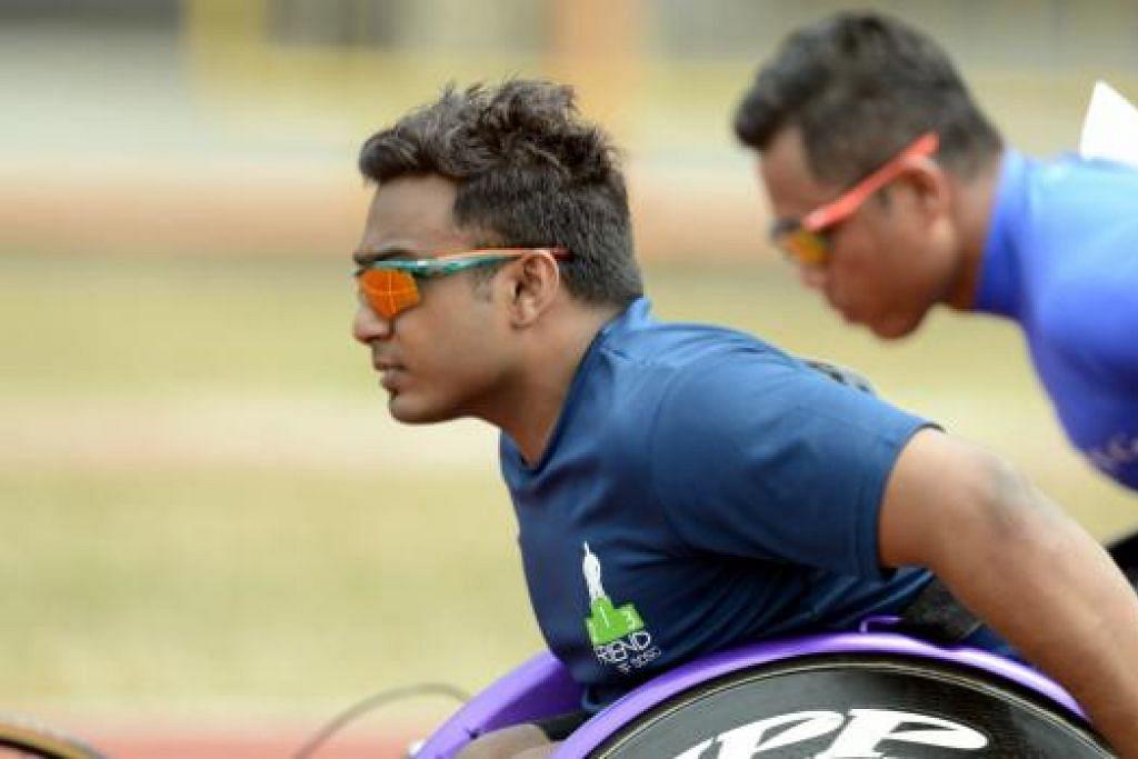 TERPILIH: Pelumba kerusi roda, Muhammad Firdaus Nordin, antara 166 atlit yang dipilih mewakili Singapura di temasya Sukan Para Asean pada Disember ini nanti.