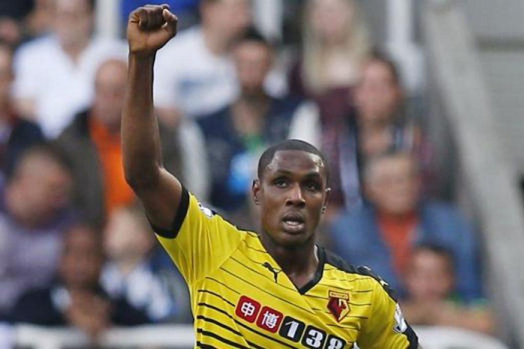 RAIKAN JARINGAN: Penyerang Nigeria Watford, Odion Ighalo, telah menjaringkan empat gol sejauh ini untuk kelabnya. - Foto REUTERS