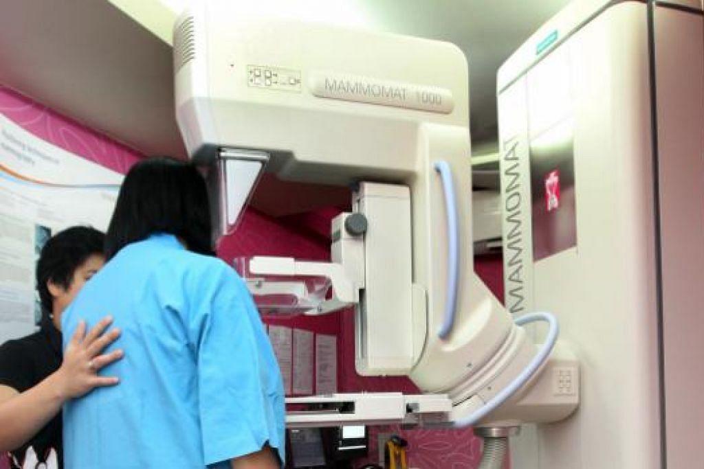 Pengesanan awal barah buah dada melalui mamogram boleh membantu merawat penyakit itu. Gambar fail THE STRAITS TIMES