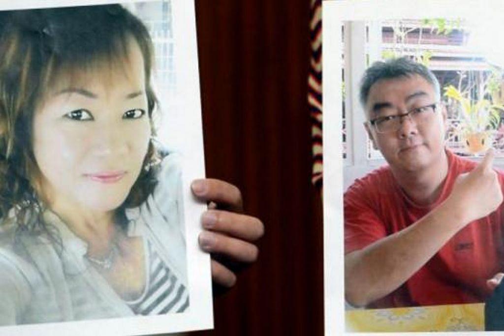 MANGSA CULIK: Cik Thien Nyuk Fun (kiri) dan Encik Bernard Then merupakan mangsa culik kumpulan Abu Sayyaf. - Foto THE STAR