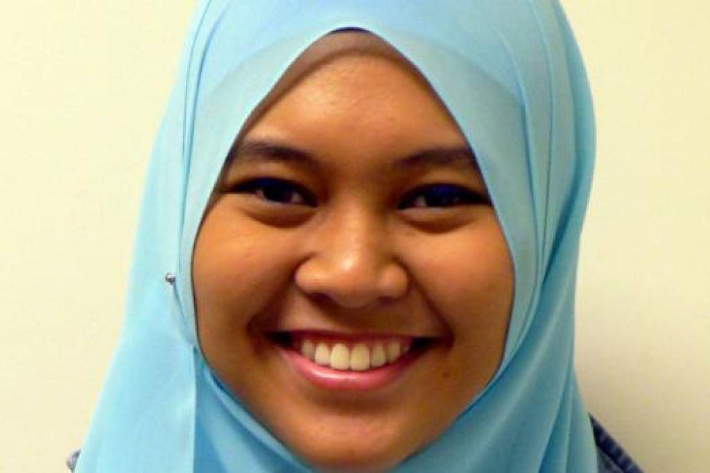 Cik Nor Aimi Ashikin Noorahim, pelajar, 19 tahun.