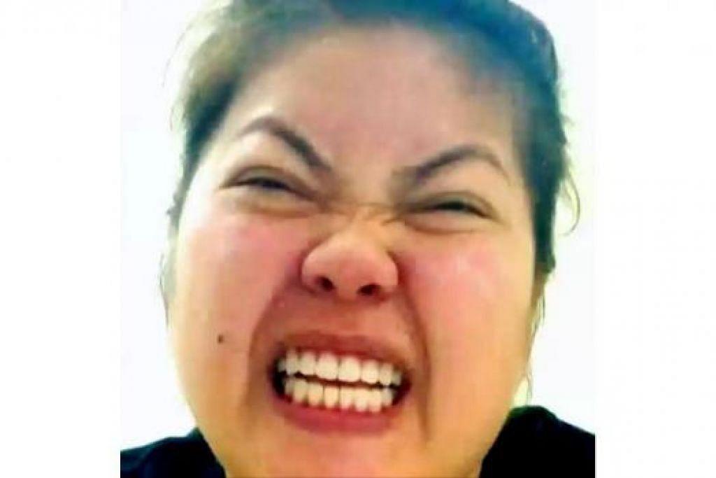 CANTIK TAK GIGIKU?: Petikan daripada klip video promosi tentang monolog 'Gigi Oh Gigi'. Ia mengisahkan wanita (lakonan Dalifah Shahril) yang berdepan dengan masalah gigi rosak. - Foto TEATER KAMI