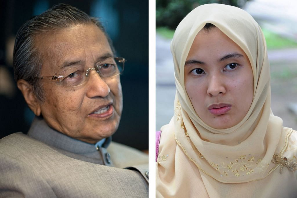 """(Kiri) DR MAHATHIR MOHAMAD: Pertama kali adakan sidang akhbar dengan parti pembangkang. (Kanan) CIK NURUL IZZAH ANWAR: Sidang media bertujuan mengulas lanjut cadangan membentuk muafakat bersama bagi """"menyelamatkan Malaysia""""."""