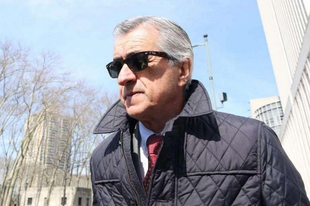 AKUI RASUAH: Bekas ejen perlawanan FIFA, Miguel Trujillo. mengaku bersalah di Mahkamah Persekutuan New York membabitkan empat pertuduhan pengubahan wang haram, penipuan kewangan telekomunikasi dan pulangan cukai palsu. - Foto