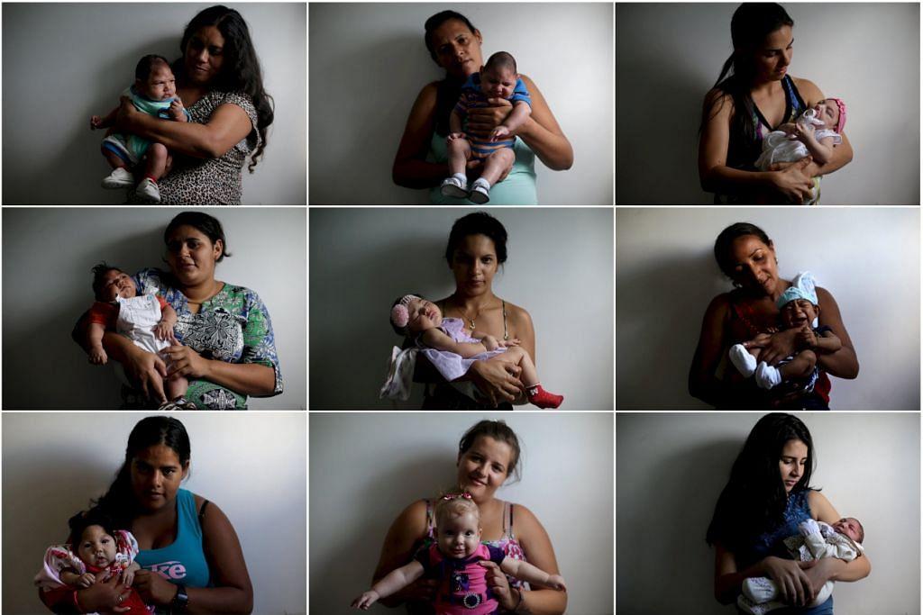 Ibu-ibu bergambar bersama bayi mereka yang dilahirkan dengan penyakit microcephaly, di Hospital Pedro I di Campina Grande, Brazil, dalam gambar 18 Februari 2016 ini. Bukti sedang membina tentang kaitan Zika dengan kecacatan otak bayi baru lahir.