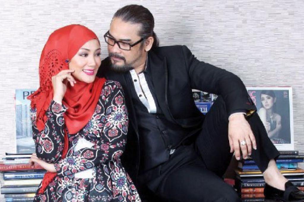 KEMBALI BERGANDINGAN: Erra Fazira dan Awie berganding dalam filem terbaharu 'Warna Cinta Impian' yang akan ditayangkan di panggung wayang gambar seluruh Malaysia bermula 31 Mac ini. - Foto