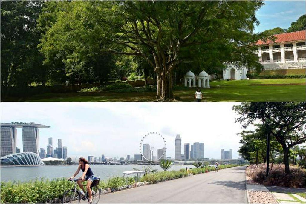 DUA PILIHAN: Taman Fort Canning dan taman bunga bahagian timur, Gardens by the Bay, merupakan dua lokasi yang dianggap sesuai untuk dibangunkan sebagai Pusat Peringatan Perintis. - Foto