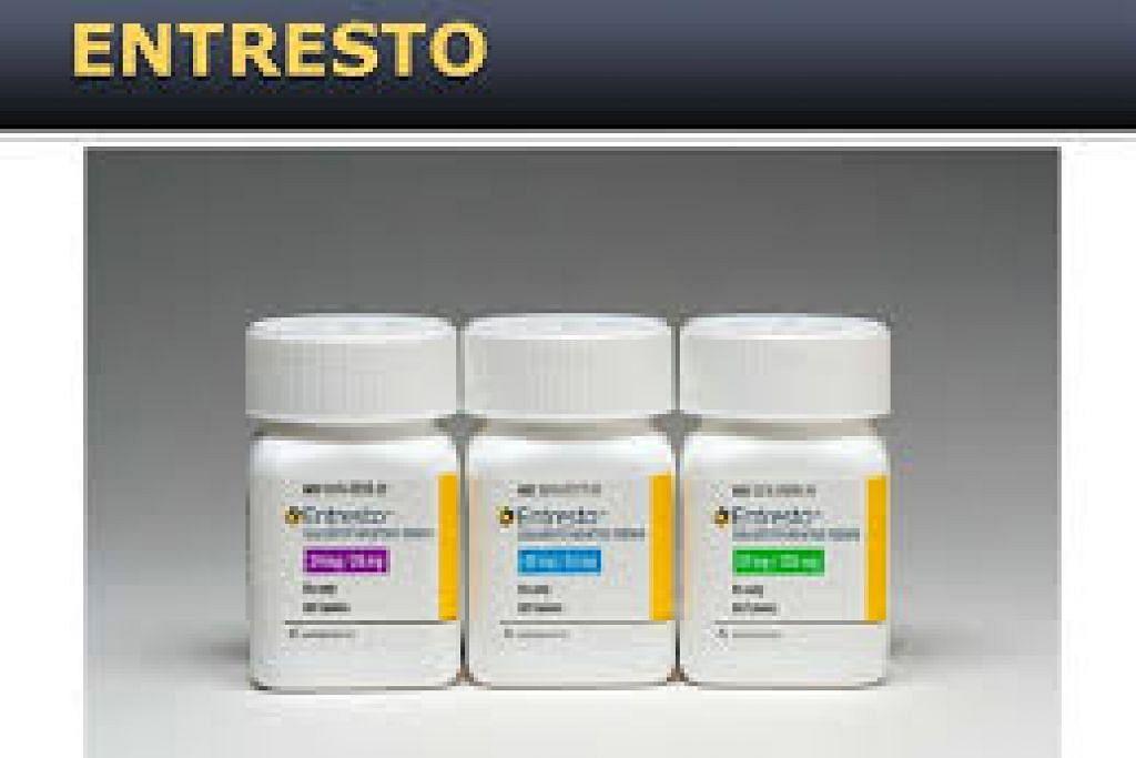 Entresto didapati lebih berkesan daripada ubat sedia ada dalam mengurangkan risiko kematian dan kemasukan ke hospital.