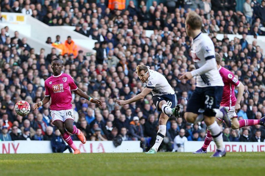 Harry Kene (nombor 10) menjaringkan dua gol dalam kemenangan 3-0 Tottenham Hotspur ke atas  Bournemouth dalam perlawanan EPL di White Hart Lane pada Ahad (20 Mac).