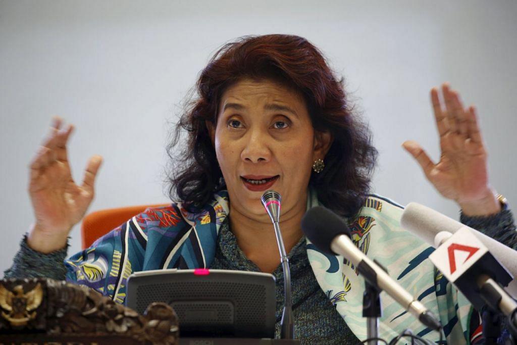 """Menteri Kelautan dan Perikanan Indonesia, Cik Susi Lahat, berkata """"kawasan menangkap ikan tradisional China"""" tidak diiktiraf di bawah sembarang perjanjian antarabangsa atau undang-undang maritim."""