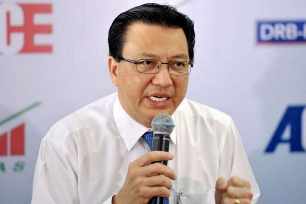 Menteri Pengangkutan Malaysia, Datuk Seri Liow Tiong Lai.