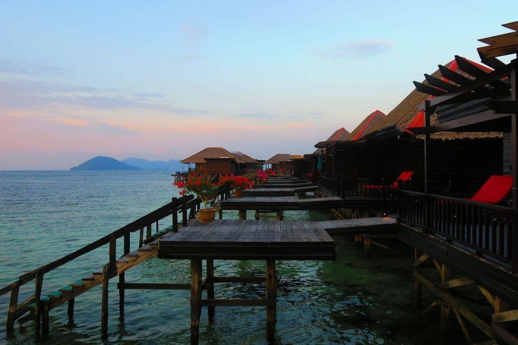 Pemandangan daripada Gayana Eco Resort Ocean Villa