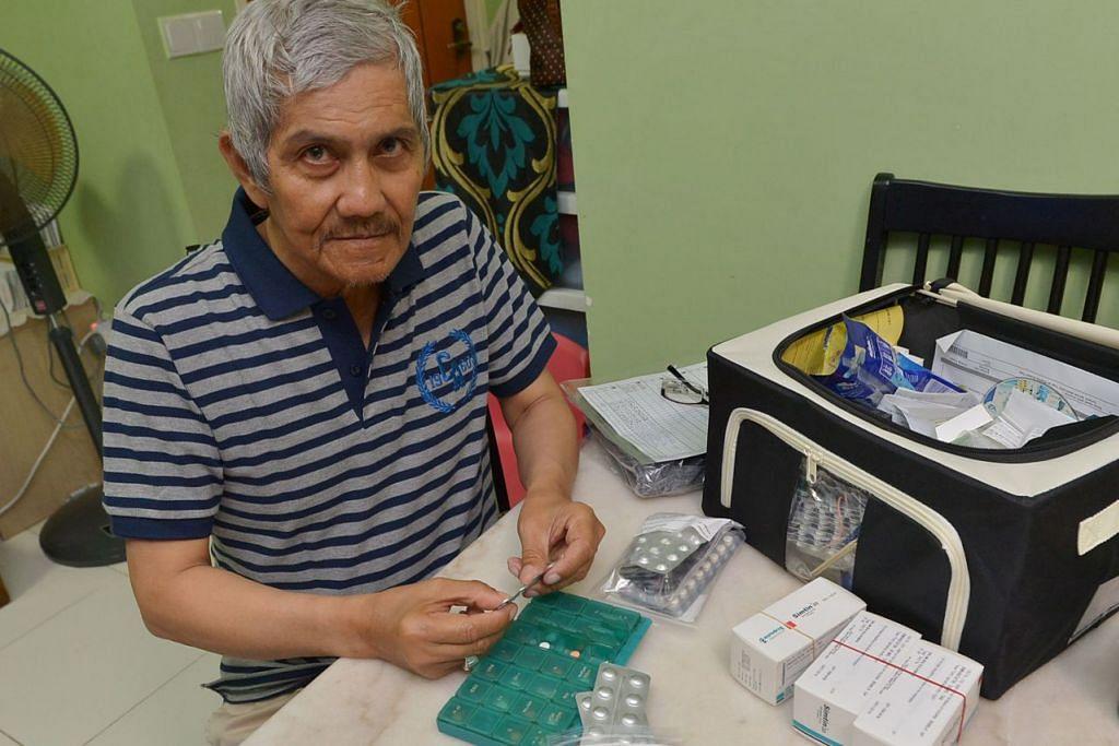 KINI BERSIKAP LEBIH BERWASPADA: Bukan sahaja Encik Salim mengamalkan gaya hidup sihat malah datuk lima cucu ini turut berhenti merokok bagi mengelakkan sebarang komplikasi lanjut akibat lemah jantung. – Foto-foto TUKIMAN WARJI
