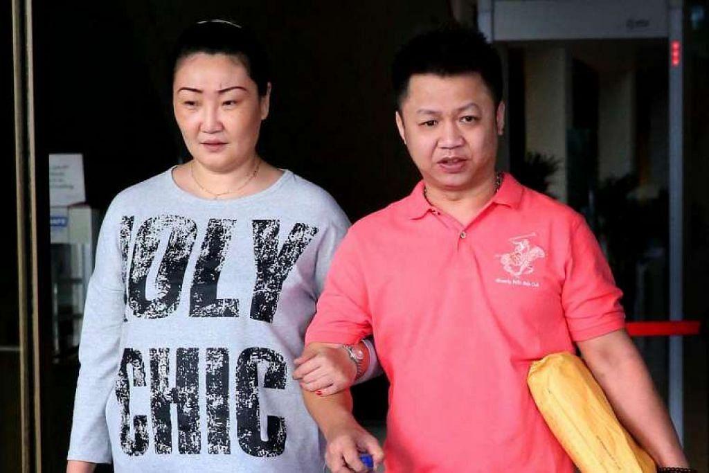 Lee Seow Peng (kanan) didapati bersalah melakukan rogol berkanun, mengasuh seseorang kanak-kanak untuk seks dan cuba membuat budak itu melakukan perbuatan sumbang.