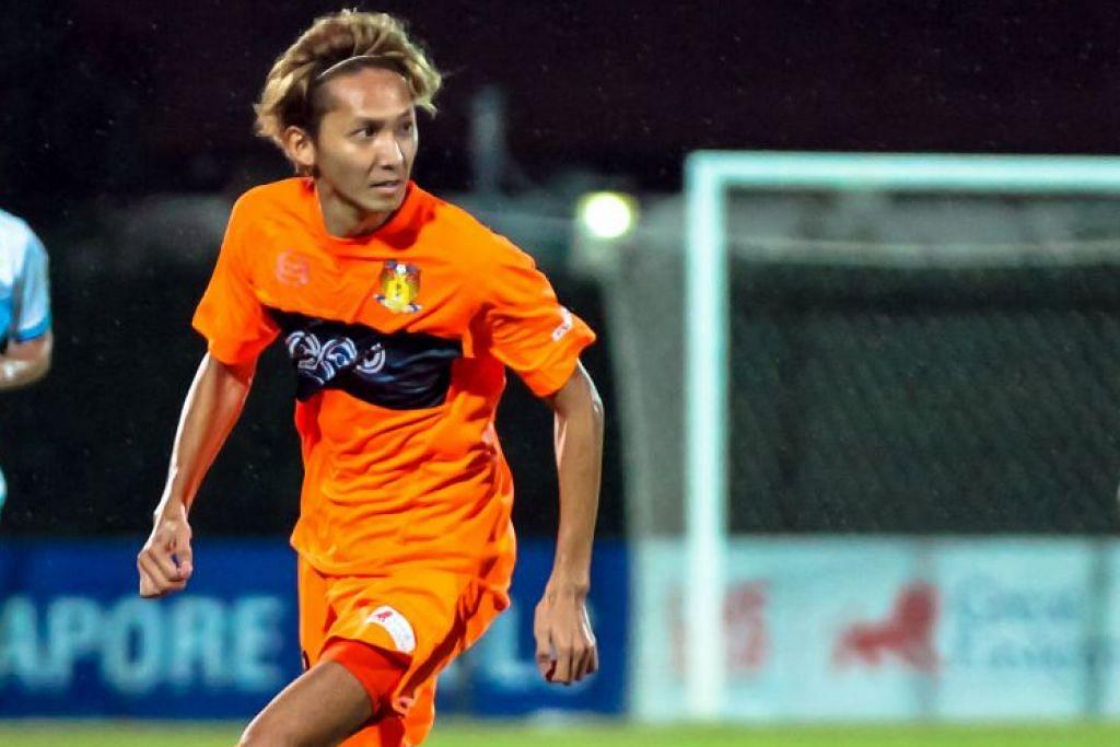 Fumiya Kogure, pemain Hougang United dari Jepun.  HAIQAL TAHIR