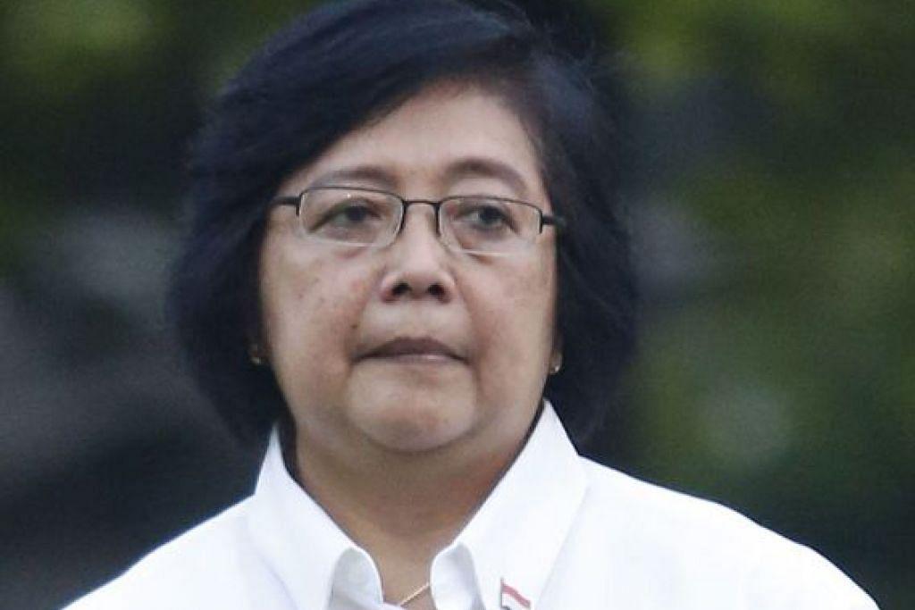 Menteri Sekitaran dan Perhutanan Indonesia, Cik Siti Nurbaya Bakar.