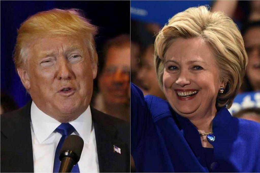 Calon Republikan, Encik Donald Trump, dan calon Demokrat, Cik Hillary Clinton, terus mendahului persaingan untuk menjadi calon parti masing-masing bagi presiden Amerika dengan kemenangan besar di New York.