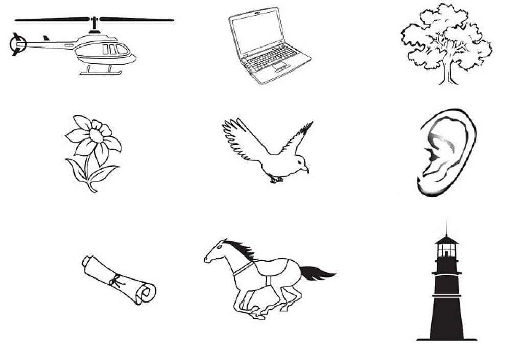 LOGO PILIHAN: Sebanyak 9 simbol ditawarkan untuk calon-calon yang bertanding dalam PRK Bukit Batok. - Foto BERITA HARIAN