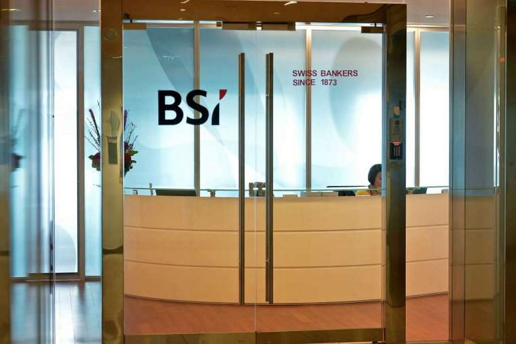 Pejabat bank Switzerland, BSI Singapore, di Suntec City Tower 1.