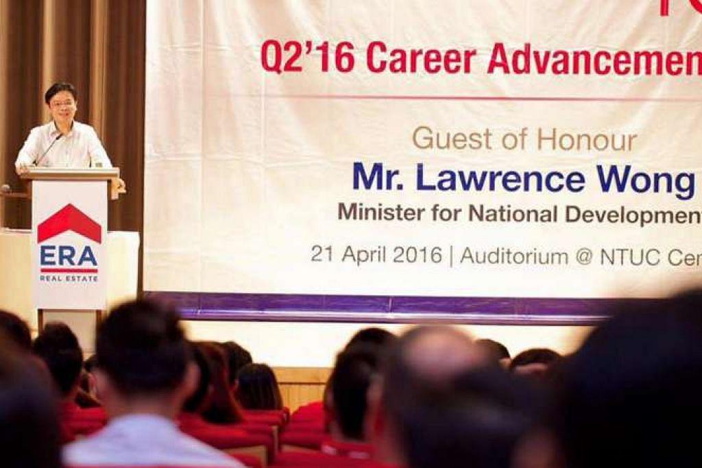 Menteri Pembangunan Negara, Encik Lawrence Wong, berkata pertumbuhan ekonomi negara yang akan menjamin prospek masa depan pasaran hartanah.