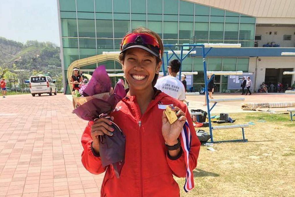 Saiyidah Aisyah melayakkan diri ke Rio 2016 selepas menjadi pendayung ketujuh terpantas di Korea Selatan.