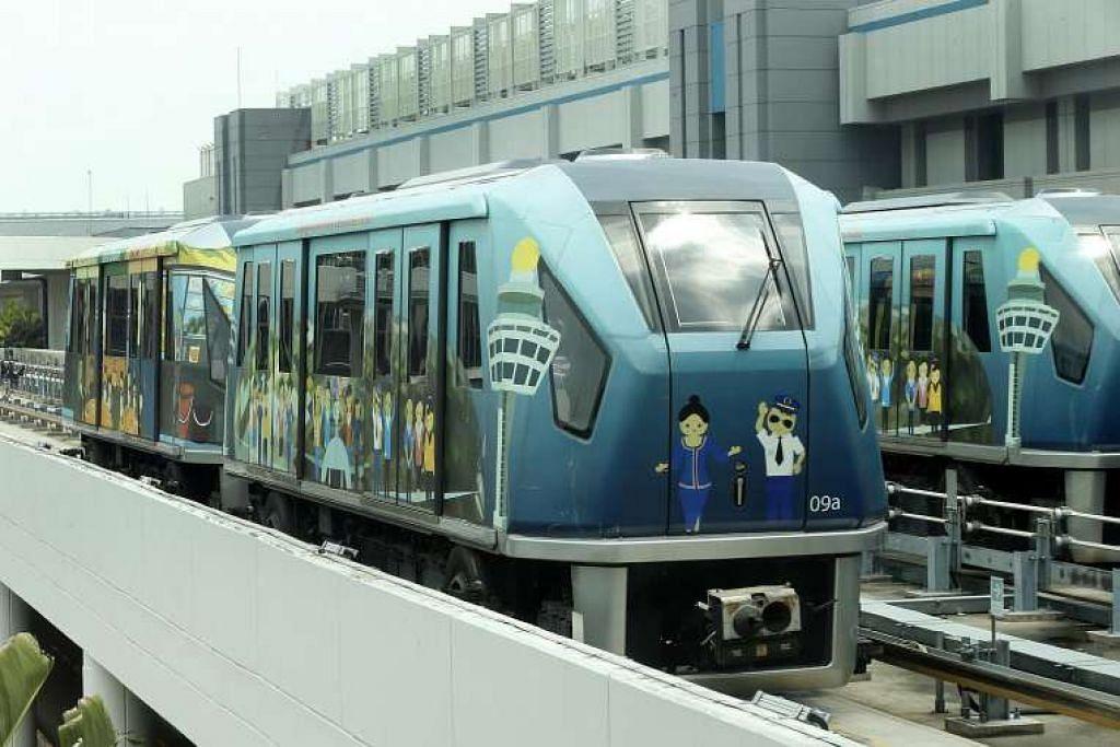 Sistem Skytrain antara terminal Lapangan Terbang Changi  akan mempunyai lebih banyak gerabak dan dipertingkat menjelang 2019.