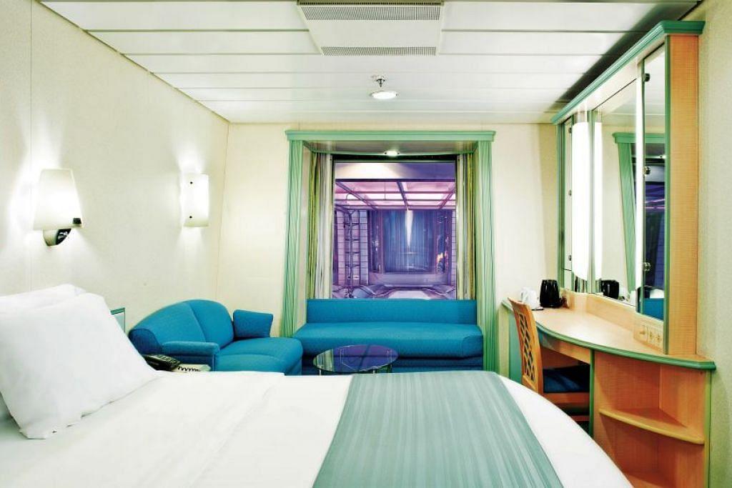 SANTAI: Pemenang peraduan foto BH berpeluang bersantai di kamar Promenade di atas kapal persiaran Mariner of the Seas. - Foto ROYAL CARIBBEAN INTERNATIONAL
