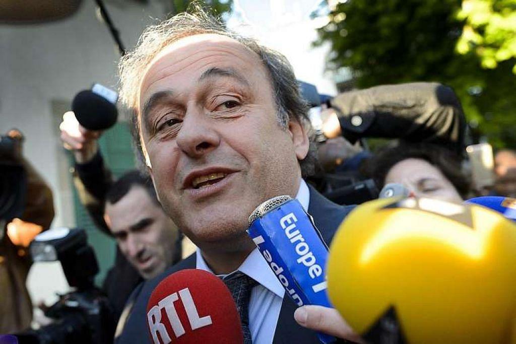 Michel Platini tiba di Mahkamah Timbang Tara Sukan di Lausanne, Switzerland pada 29 April untuk merayu terhadap penggantungan enam tahun yang dikenakan Fifa terhadapnya. Mahkamah mengurangkan penggantungan itu kepada empat tahun.