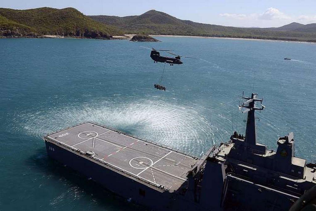 Previu Latihan Trident di Teluk Air Tawar di Rockhampton, Queensland.