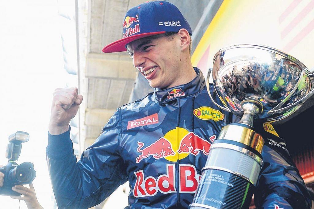 NOMBOR SATU: Dilahirkan di Belgium tetapi memilih untuk mewakili Belanda, Max Verstappen meraikan kemenangan sulungnya di F1 ini di Sepanyol dua minggu lalu. - Foto AFP