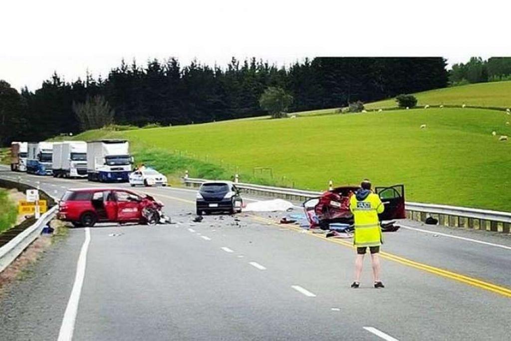 Kemalangan yang disebabkan kereta yang dipandu Lew.