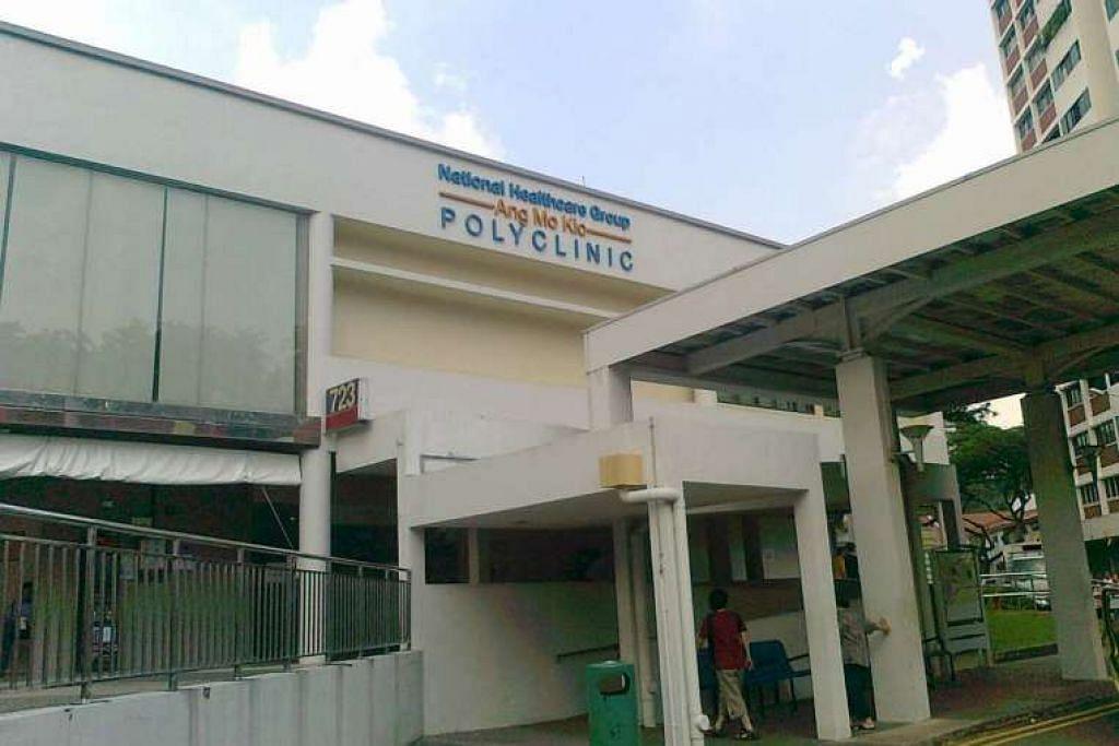 Poliklinik Ang Mo Kio ini antara sembilan yang mengalami gangguan sistem IT sekejap pada pagi Isnin, menyebabkan pesakit ditolak dan masa menunggu lebih panjang.