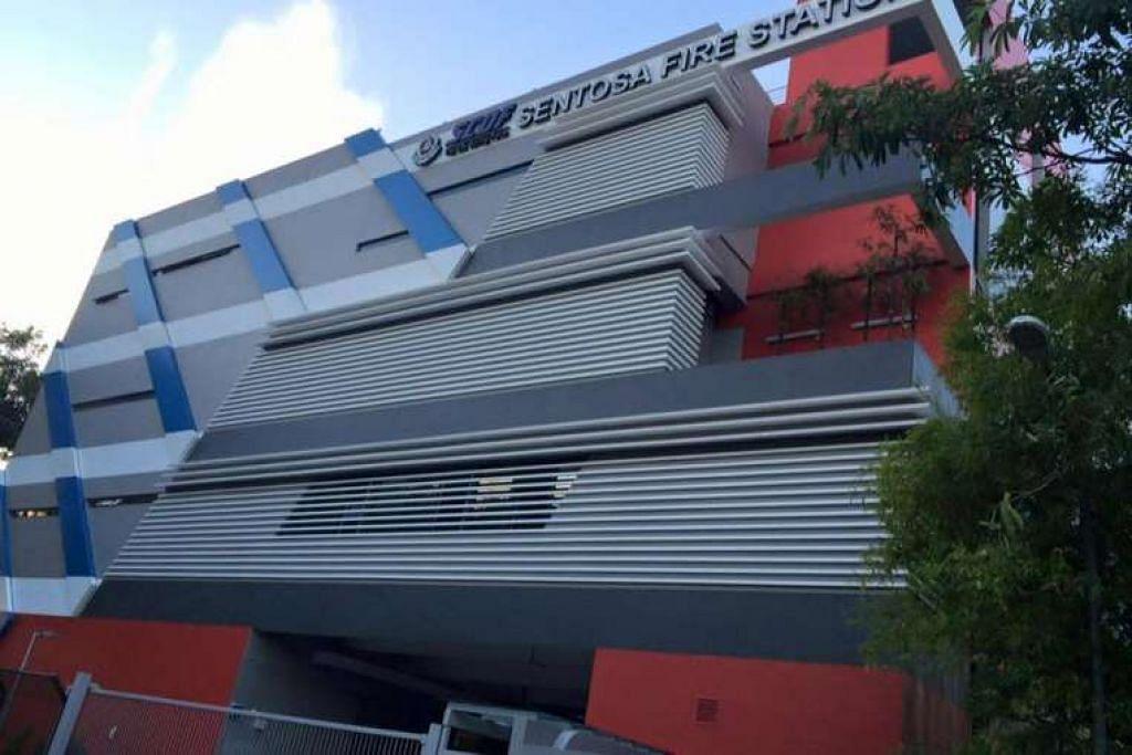 Balai Bomba Sentosa terletak di 37 Artileri Avenue dan menempatkan lima kenderaan kecemasan.
