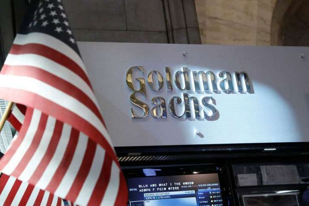 Ruang Goldman Sachs di lantai Bursa Saham New York  pada Julai 2013.