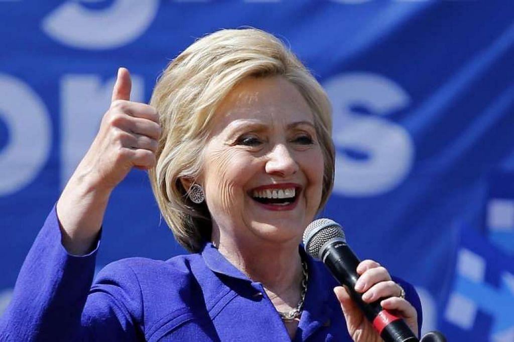 Calon presiden Amerika Syarikat parti Demokrat, Cik Hillary Clinton, berucap pada perhimpunan di Leimert Park, Los Angeles, pada Jun 6.