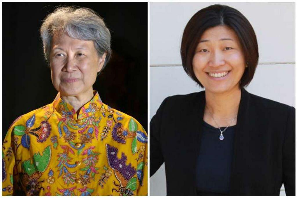 Ketua Eksekutif Temasek Holdings, Cik Ho Ching (kiri), dan rakan pengurusan GGV Capital, Cik Jenny Lee.
