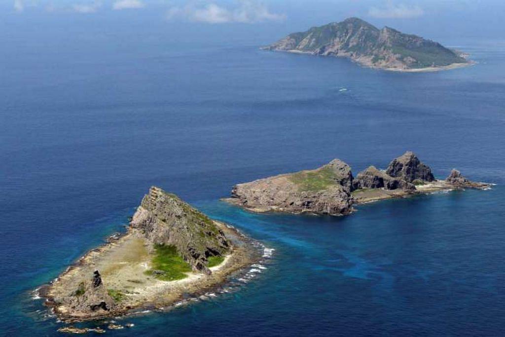 Kepulauan yang dipertikai, yang dikenali sebagai Senkaku di Jepun dan Diaoyu di China.