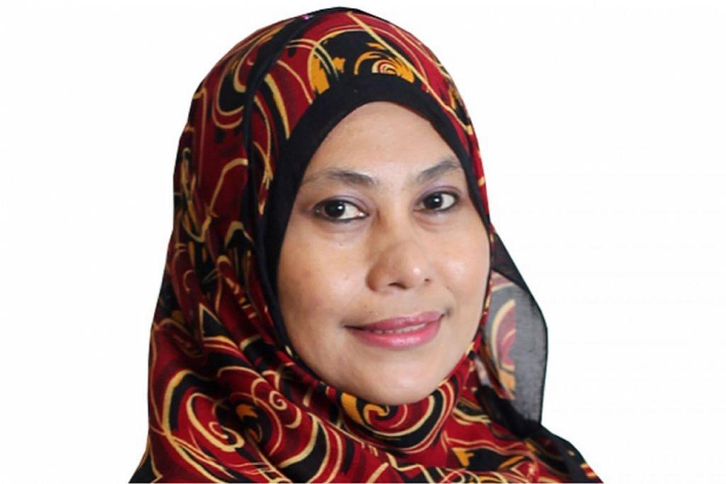 KARYAWAN MAPAN: Inilah enam pengadil bagi projek 'Mencari Kristal'. Mereka ialah Cik Hanim Mohd Saleh.