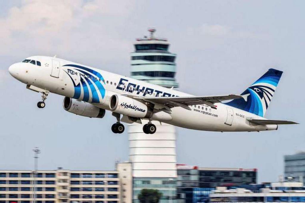 Pesawat Airbus 320 Egyptair yang hilang dari radar di ruang udara laut Mediterranean.