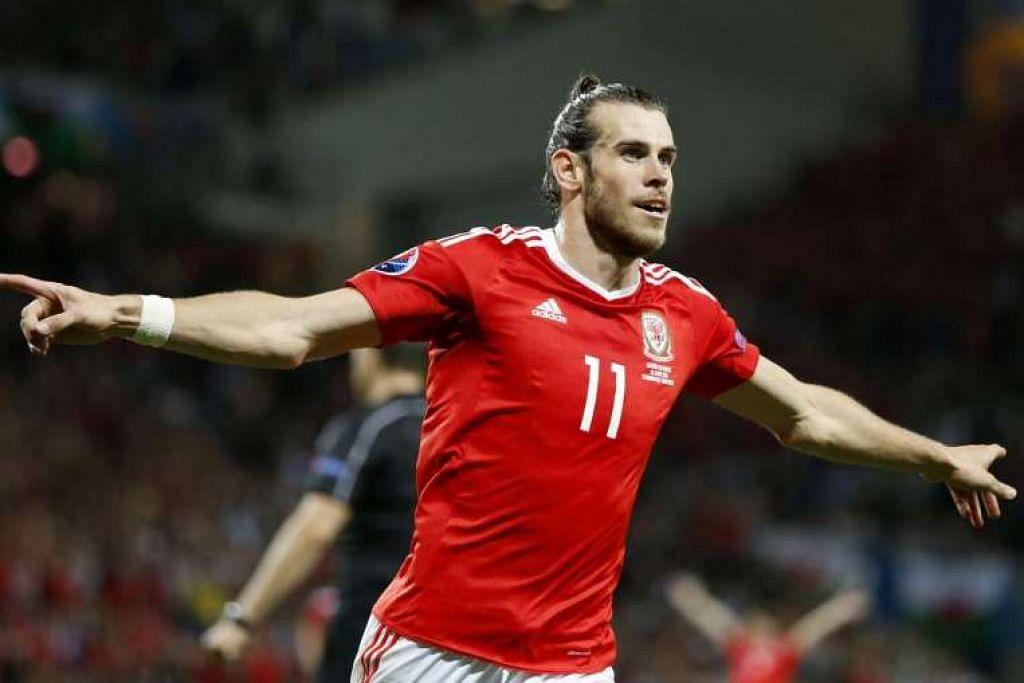 Gareth Bale menjaringkan gol ketiga Wales dalam kemenangan 3-0 ke atas Russia.